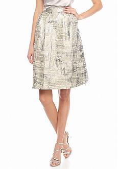 Calvin Klein Flare Jacquard Skirt