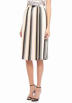 Calvin Klein Pleated Chiffon Skirt
