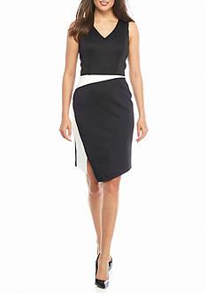 Calvin Klein Side Slit Sheath Dress