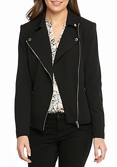 Calvin Klein Crepe Moto Jacket
