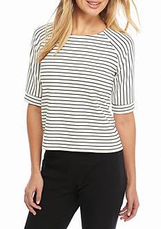 Calvin Klein Raglan Sleeve Stripe Top