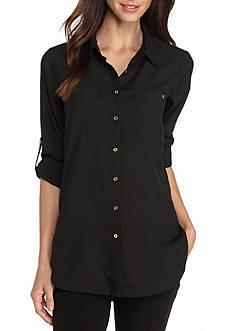 Calvin Klein Rolled Sleeve Tunic