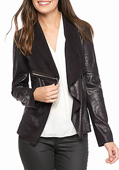 Calvin Klein Distressed Flyaway Jacket