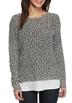 Calvin Klein Sweater Knit 2Fer Top