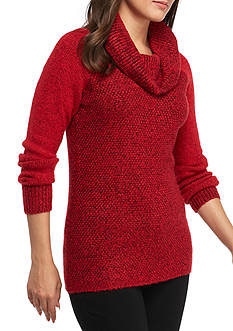 Calvin Klein Two-Toned Cowl Neck Sweater