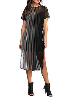 Calvin Klein Side Slit Long Shirt Dress