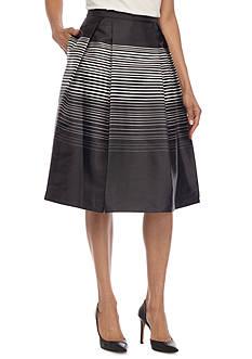 Calvin Klein Stripe Flare Skirt