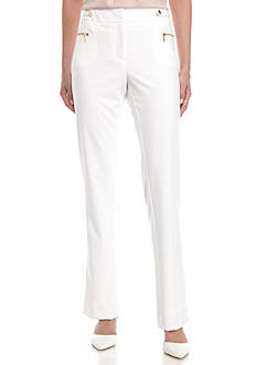 Calvin Klein Straight Pant with Buckle and Zippers