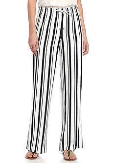 Calvin Klein Striped Soft Wide Leg Pants