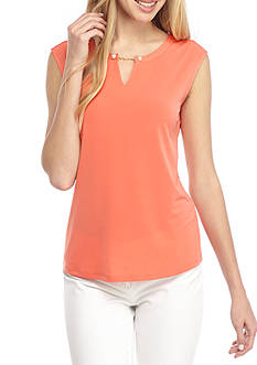 Calvin Klein Sleeveless Knit With Pearl Detail