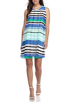 Calvin Klein Sleeveless Stripe A Line Dress