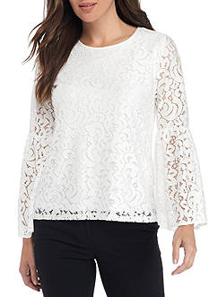 Calvin Klein Bell Sleeve Lace Top