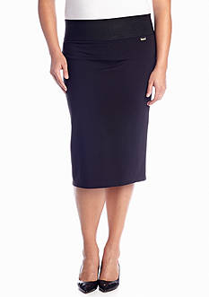 Calvin Klein Plus Size Wide Waisted Skirt