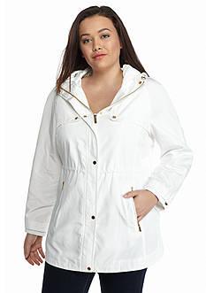 Calvin Klein Plus Size Water Resistant Anorak Jacket