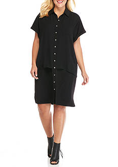 Calvin Klein Women's Plus Size Double Layer Dress