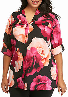 Calvin Klein Plus Size Flower Print Top