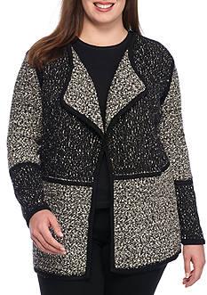 Calvin Klein Plus Size Block Flyaway Sweater