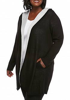 Calvin Klein Women's Long Sleeve Hooded Cardigan