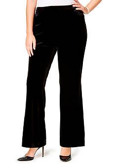 Calvin Klein Plus Size Wide Leg Velvet Pants