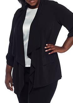 Calvin Klein Plus Size Roll-Tab Flyaway Jacket