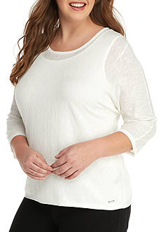 Calvin Klein Plus Size Layered Sweater