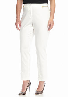 Calvin Klein Plus Size Ankle Pants with Zips