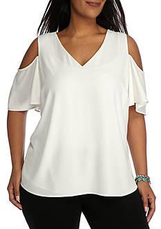 Calvin Klein Plus Size Cold Shoulder Blouse