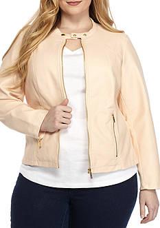 Calvin Klein Plus Size Zip Front Jacket