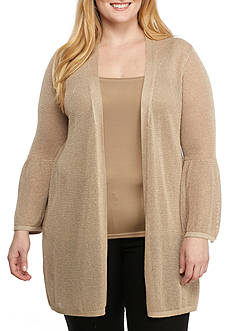 Calvin Klein Plus Size Bell Sleeve Cardigan