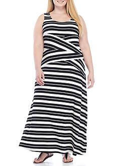 Calvin Klein Sleeveless Stripe Maxi
