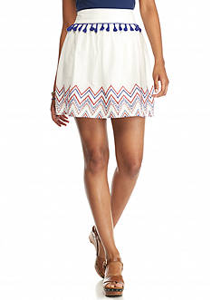 love, FIRE love, Fire Tassel Embroidered Skirt