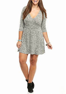 love, Fire Plus Size Wrap Dress