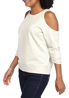 love, Fire Cold Shoulder Sweatshirt