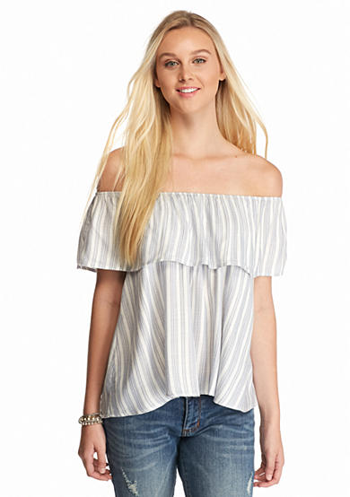 love, Fire Off the Shoulder Top