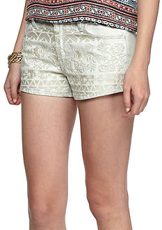 Tinseltown Embroidered Front Shorts