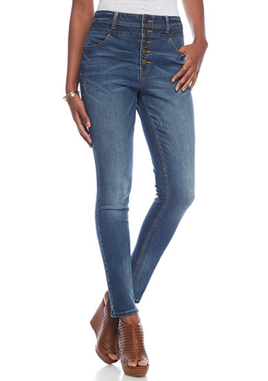 Tinseltown 5 Button Skinny Jeans
