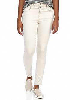 love, Fire Double Button Skinny Jeggings
