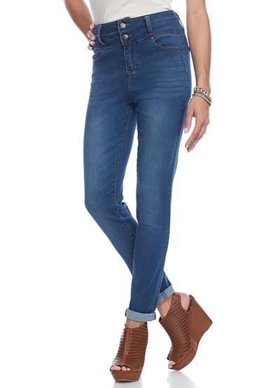 love, Fire Double Button Skinny Jeans