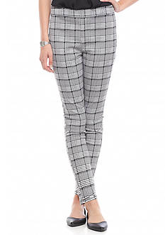 Tinseltown Plaid Side Zip Skinny Trousers