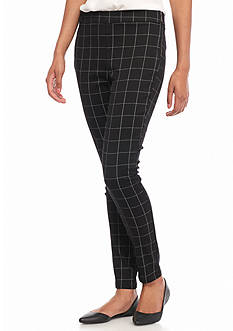 Tinseltown Grid Side Zip Skinny Pants
