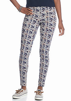 love, Fire Love, Fire Printed Side Zip Skinny Pants