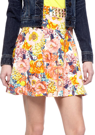 love Studded Floral Skirt