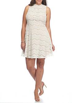 love, Fire Plus Size Lace Skater Dress