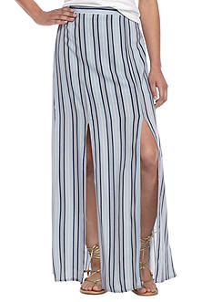 love, Fire Striped Slit Maxi