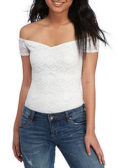 Fourteenth Place Off the Shoulder Lace Bodysuit
