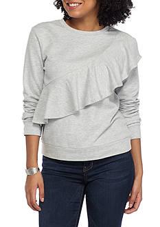 love, Fire Ruffle Sweatshirt