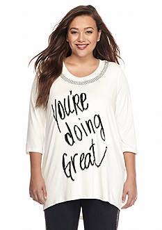 Melissa McCarthy Seven7 Plus Size 'You're Doing Great' Graphic Tee