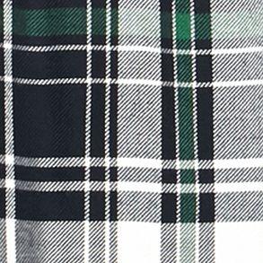 Trendy Plus Size Clothing: Plaids: Green Jane Ashley Plus Size Plaid Lace Woven Top