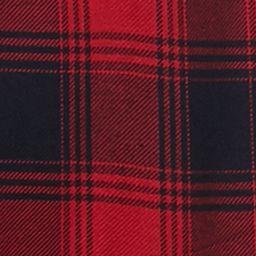 Trendy Plus Size Clothing: Plaids: Navy/Red Jane Ashley Plus Size Plaid Lace Woven Top