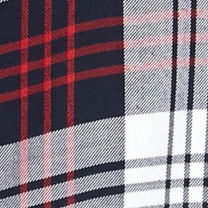 Trendy Plus Size Clothing: Plaids: Indigo Jane Ashley Plus Size Plaid Lace Woven Top